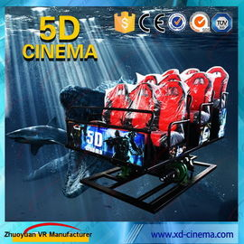 6 DOF Snow Virtual Reality 5D Cinema Equipment  With Hydraulic / Electric Platform