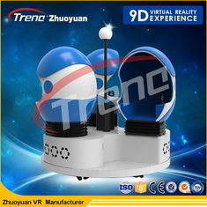 Single Seats 2 Player 9D Action Cinemas 360°Panoramic View For Shopping Mall