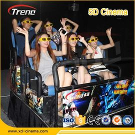 Çin 70 PCS 5D Movies Multiplayer CS Fights Shooting Games 7D Cinema Simulator Rider Metal Screen 6 / 9 Seats Fabrika
