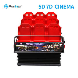 Çin Metal Screen 7d Simulator Cinema 6 / 9 Seats With Wind Effects Electric System Fabrika